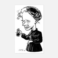 Marie Curie, caricature Sticker (Rectangle)