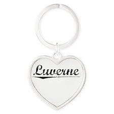 Luverne, Vintage Heart Keychain