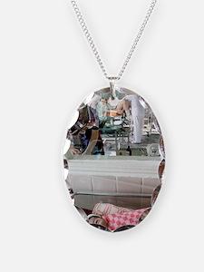 Maternity hospital Necklace Oval Charm