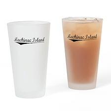Mackinac Island, Vintage Drinking Glass