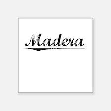 "Madera, Vintage Square Sticker 3"" x 3"""