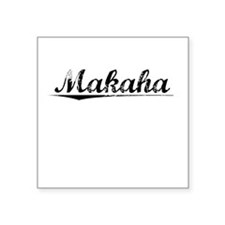 "Makaha, Vintage Square Sticker 3"" x 3"""