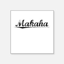 "Makaha, Vintage Square Sticker 3"" x 3"""