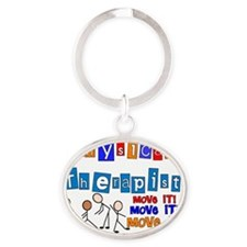 pt MOVE IT LARGE Oval Keychain