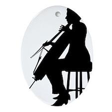 Cello-Player-19-a Oval Ornament