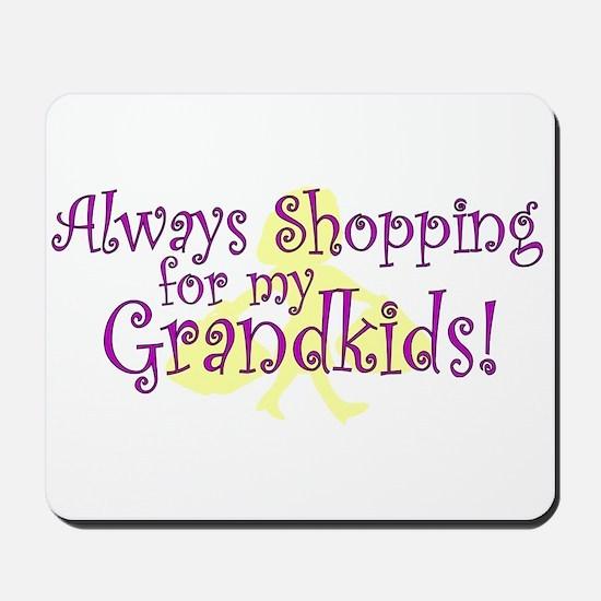 Shopping Grandma Mousepad