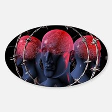 Migraine, conceptual artwork Decal