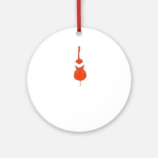 Cello-Hugger-01-b Round Ornament