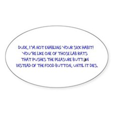SNQuote1 Oval Decal