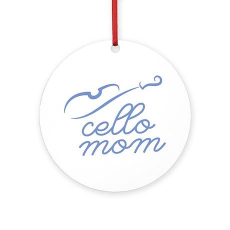 Cello-Mom-01-a Round Ornament