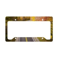 Beautiful curvy road located  License Plate Holder