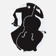 Cello-Player-15-a Oval Ornament