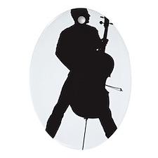 Cello-Player-18-a Oval Ornament