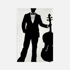 Cello-Player-09-a Rectangle Magnet