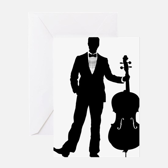 Cello-Player-09-a Greeting Card