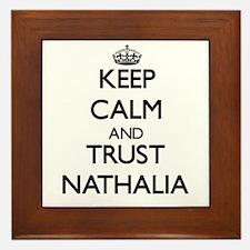 Keep Calm and trust Nathalia Framed Tile