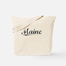 Maine, Vintage Tote Bag