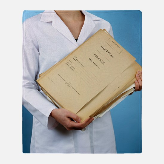 Medical records Throw Blanket