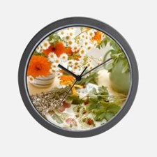 Medicinal plants Wall Clock