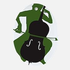 Cello-Player-16-a Oval Ornament