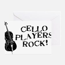 Cello-Players-Rock-01-a Greeting Card