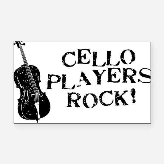 Cello-Players-Rock-01-a Rectangle Car Magnet