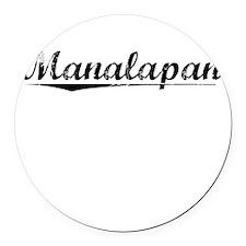 Manalapan, Vintage Round Car Magnet