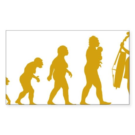 Evolution-Woman-03-c Sticker (Rectangle)