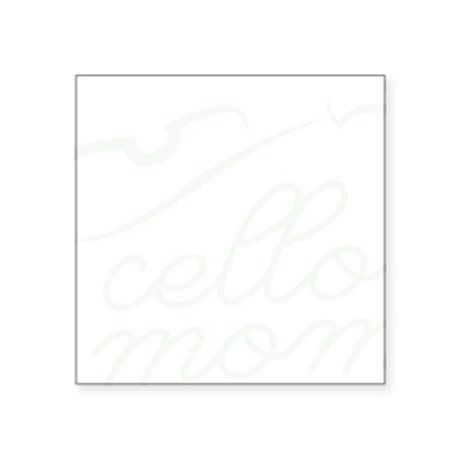 "Cello-Mom-01-b Square Sticker 3"" x 3"""