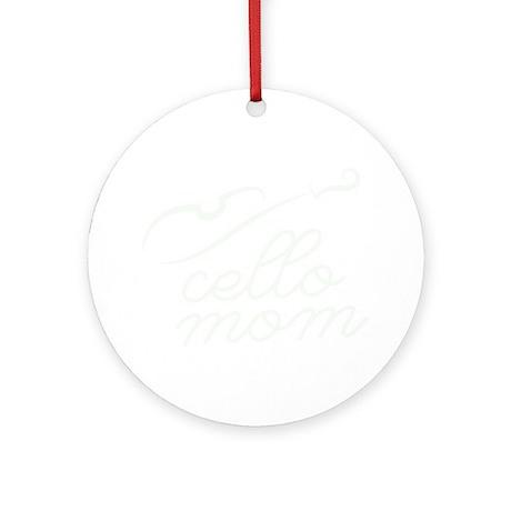 Cello-Mom-01-b Round Ornament