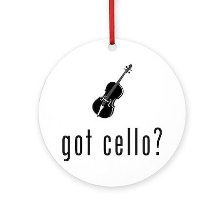 CELLO 01 Round Ornament