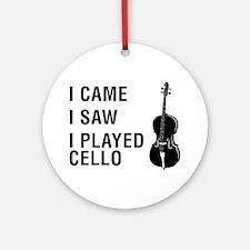 I-Came-I-Saw-I-Played-Cello-01-a Round Ornament