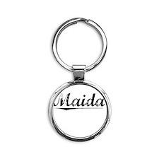 Maida, Vintage Round Keychain