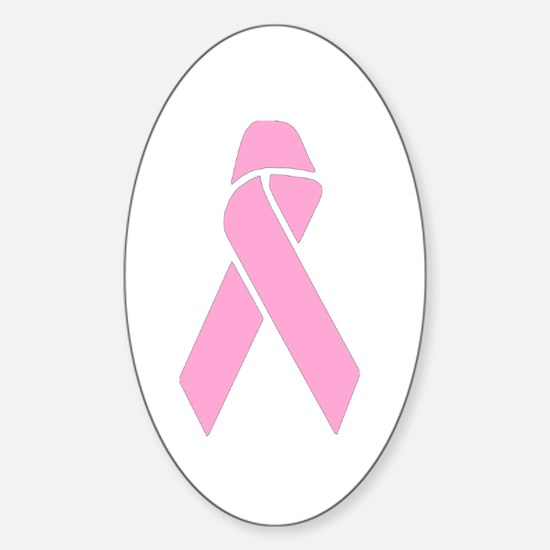 Pink Ribbon Oval Decal