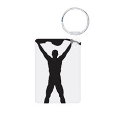 Cello-Player-11-a Keychains