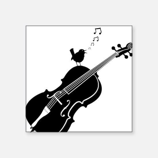 "Songbird-01-a Square Sticker 3"" x 3"""
