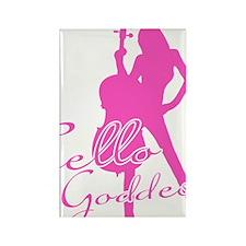 Cello-Goddess-01-a Rectangle Magnet