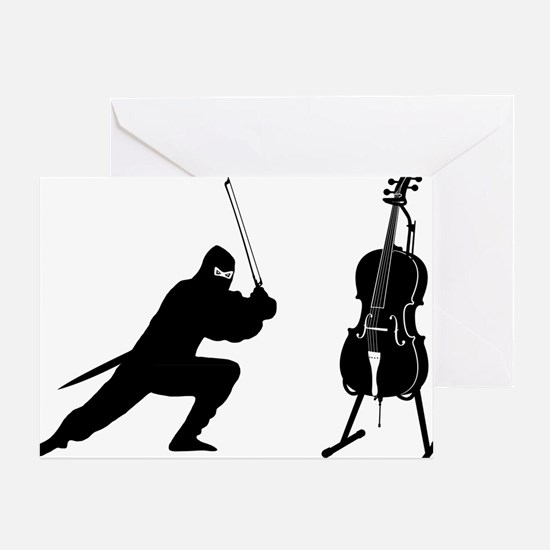 Cello-Ninja-01-a Greeting Card