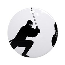 Cello-Ninja-01-a Round Ornament