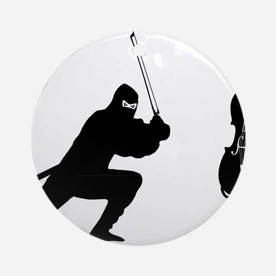 Cello-Ninja-01-a Round Ornament