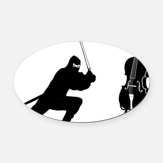 Cello-Ninja-01-a Oval Car Magnet