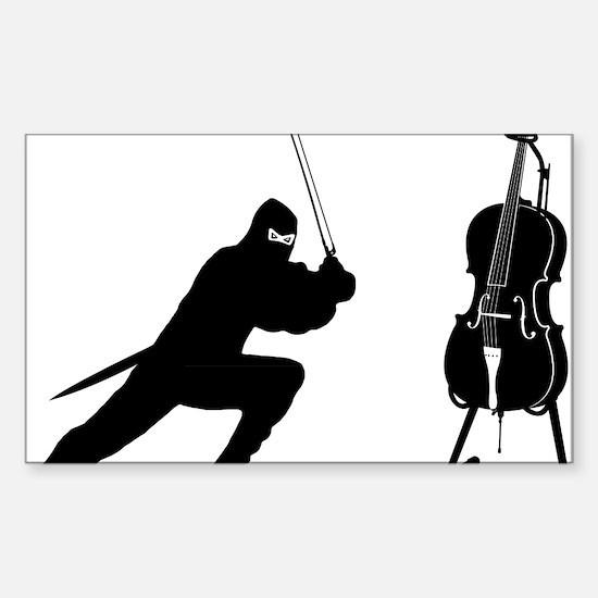 Cello-Ninja-01-a Sticker (Rectangle)