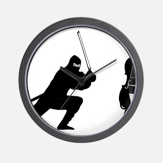 Cello-Ninja-01-a Wall Clock