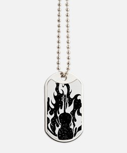 Flaming-Cello-01-a Dog Tags