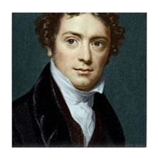 Michael Faraday, British physicist Tile Coaster - michael_faraday_british_physicist_tile_coaster