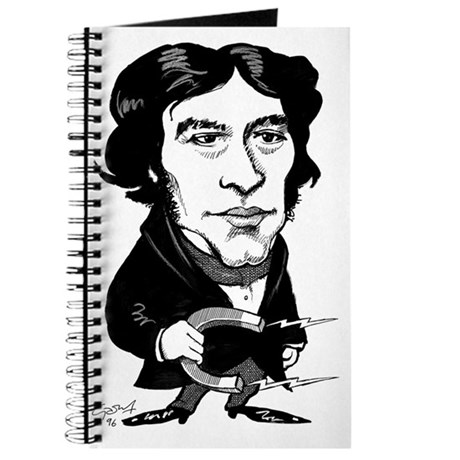 Michael Faraday, caricature Journal - michael_faraday_caricature_journal