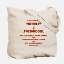 Awesome God Red Tote Bag