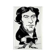 Michael Faraday, caricature Rectangle Magnet