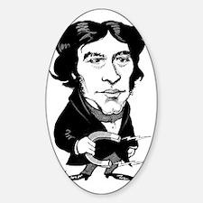 Michael Faraday, caricature Sticker (Oval)