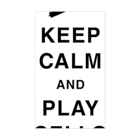 Keep-Calm-and-Play-Cello-01-a Sticker (Rectangle)